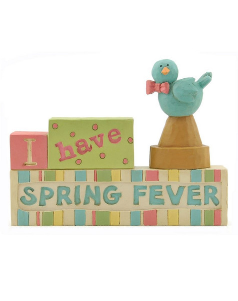131-86931 I Have Spring Fever Block With Bird - Pack of 8