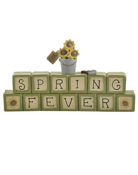 131-86973 Spring Fever Stacked Blocks With Flower Pot - Pack of 7