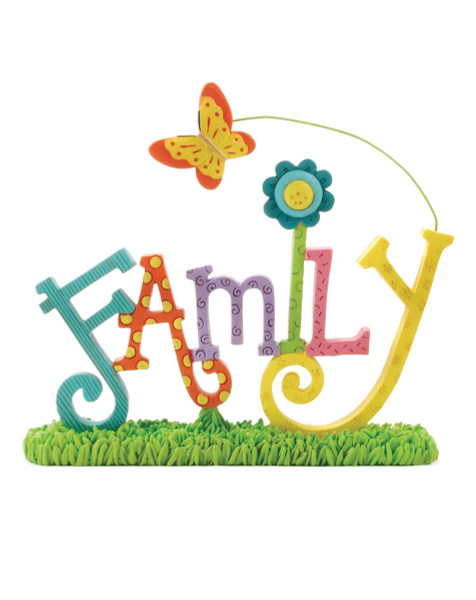 131-87131 Blossom Bucket Family On Base With Butterfly - Pack of 5
