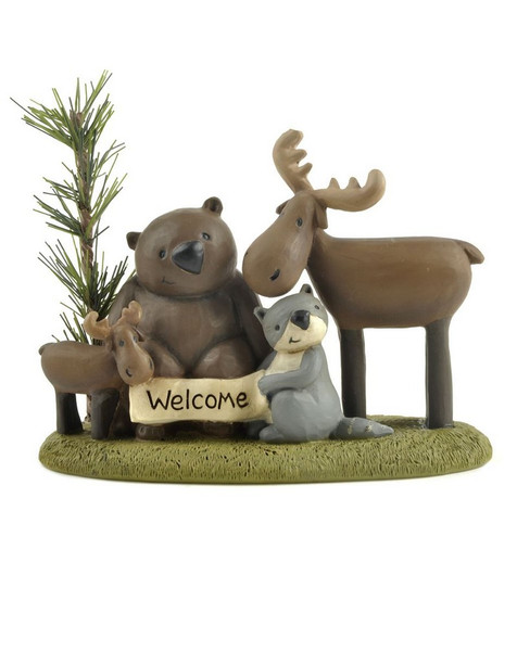 131-87301 Blossom Bucket Welcome Forest Friends On Base - Pack of 3