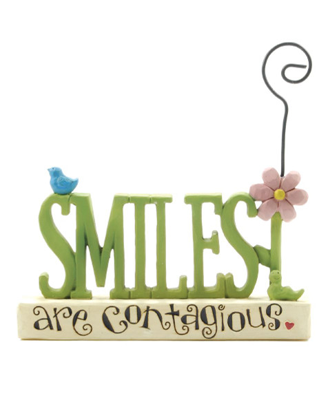 131-87359 Smiles Are Contagious Picture Holder - Pack of 7