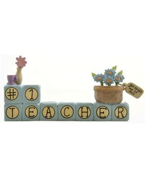 131-91403 Blossom Bucket 1 Teacher Block With Flowers - Pack of 6