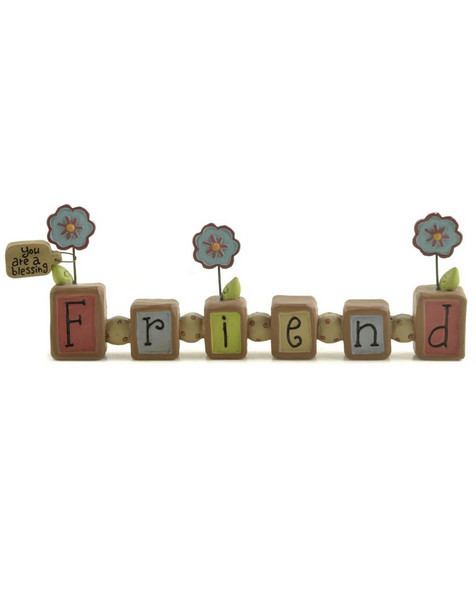 131-91425 Friend You Are A Blessing Bead Block - Pack of 5