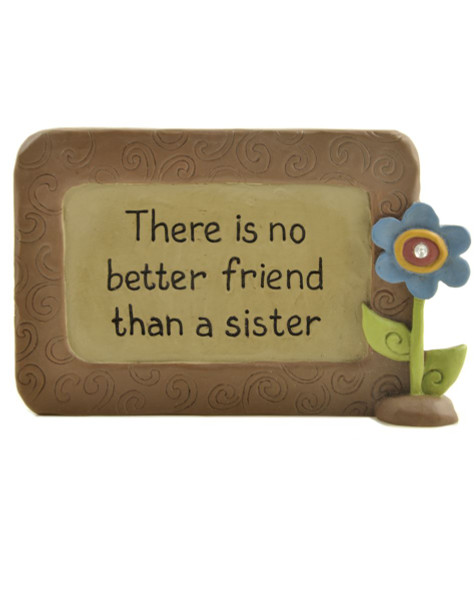 131-91431 Blossom Bucket No Better Friend Sister Plaque - Pack of 8