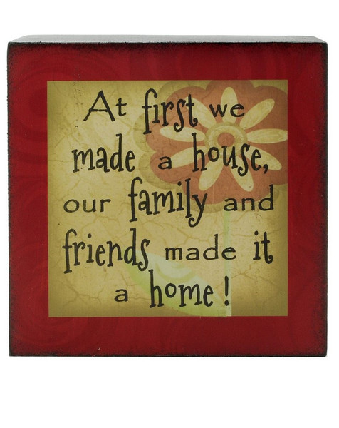 133-36999 First We Made A House 4X4 Box Sign - Pack of 9