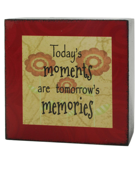 133-37005 Blossom Bucket Todays Moments 4X4 Box Sign - Pack of 9