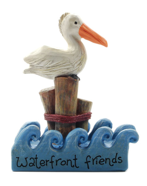 133-87490 Waterfront Friends With Pelican On Post - Pack of 7