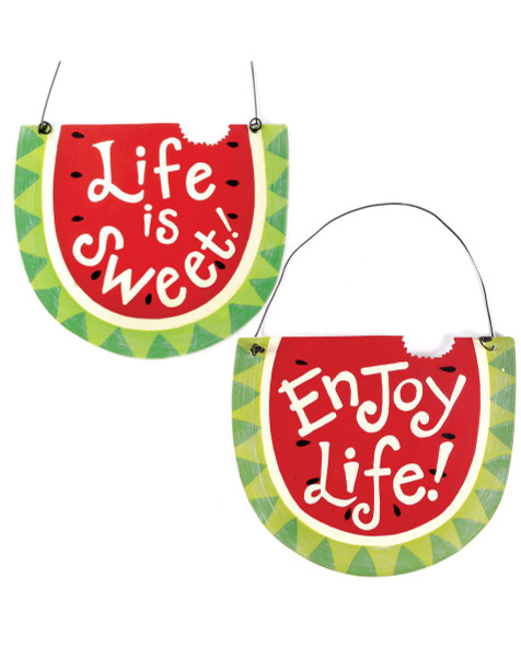 135-36322 Blossom Bucket Set of 2 Watermelon Signs - Pack of 3