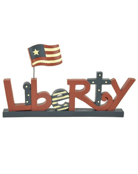 135-88019 Blossom Bucket Liberty With Flag On Base - Pack of 5