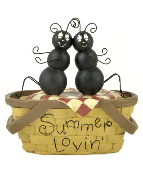 135-88383 Blossom Bucket Summer Lovin Basket With Ants - Pack of 4