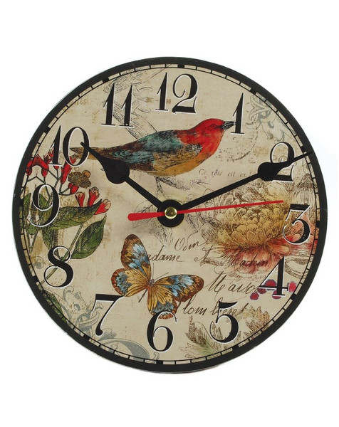 1366-70092 Small Bird / Butterfly Table Clock With Stand - Pack of 7