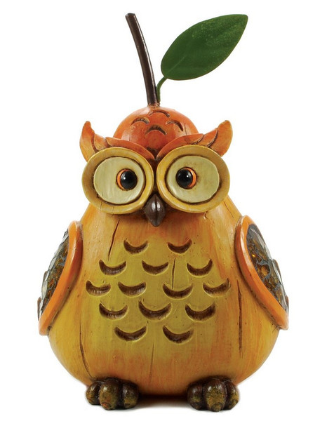 1366-70155 Pear Shaped Brown Owl With Stem - Pack of 5