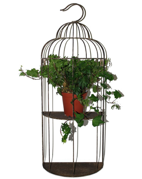 1366-70230 Round Two-Tier Bird Cage Planter - Pack of 2