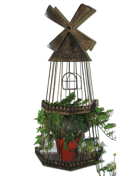 1366-70231 Blossom Bucket Windmill Bird Cage Planter - Pack of 2
