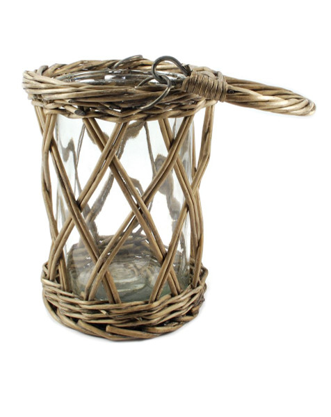1366-70243 Small Wicker Basket Glass Holder - Pack of 6