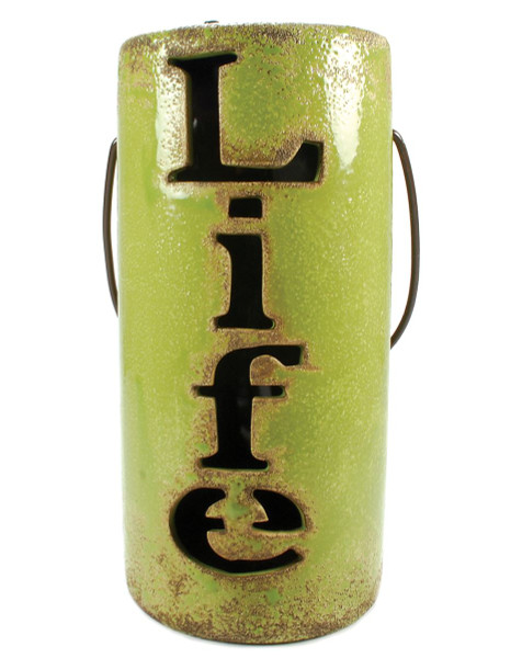 1366-70430 Life Green Lantern With Solar Light - Pack of 3