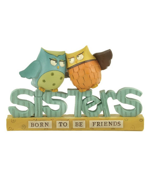 1366-88173 Blossom Bucket Sisters Owls On Block - Pack of 6