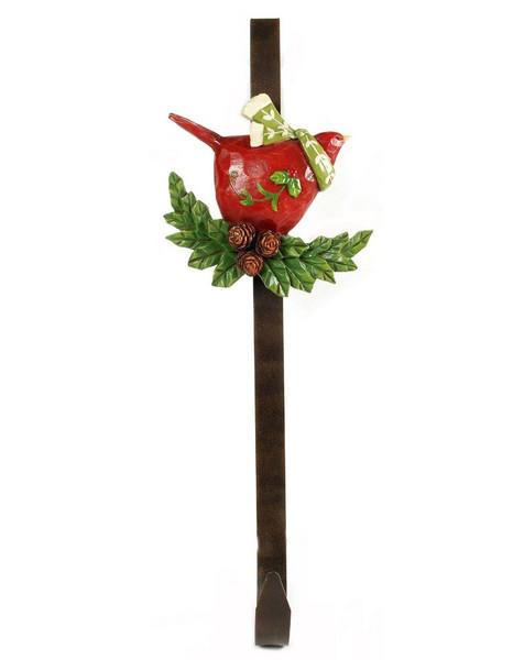 138-70203 Blossom Bucket Red Bird On Holly Hook - Pack of 4