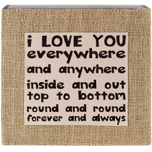 1411-39037 Love You Everywhere Wall Box Sign - Pack of 3