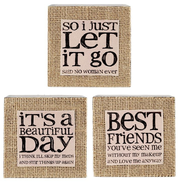 1411-39043 Set of 3 Wall Box Signs - Pack of 3