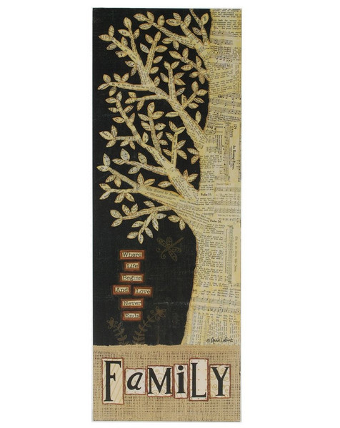 1411-39300 Blossom Bucket Family Wall Box Sign - Pack of 3