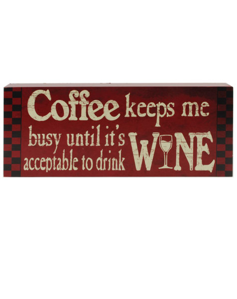 1411-71644 Blossom Bucket Coffee Keeps Red Wall Box Sign - Pack of 9