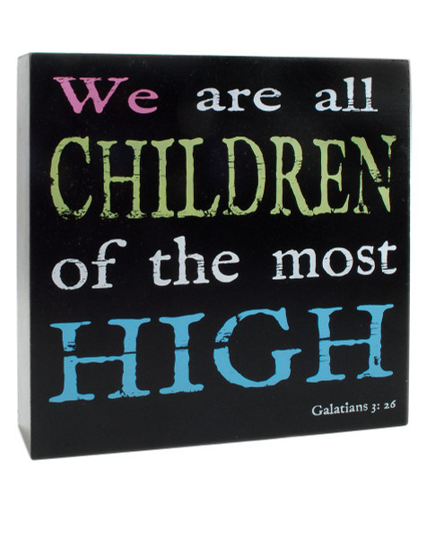 141-37016 Children Of Most High Wall Box Sign - Pack of 4