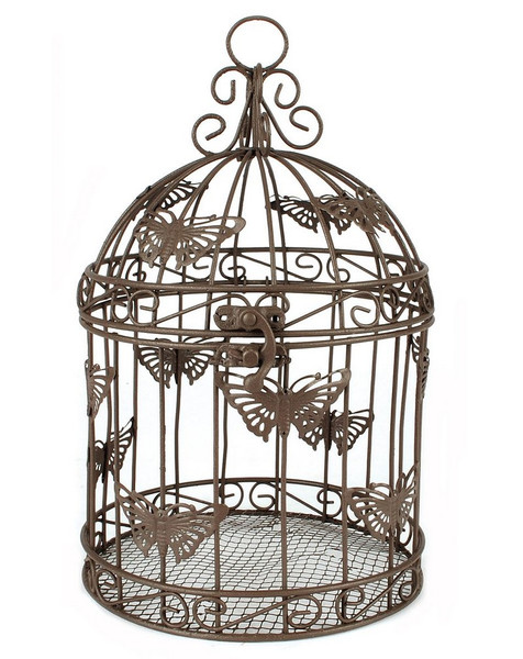 143-70719 Blossom Bucket Butterfly Designed Birdcage - Pack of 2