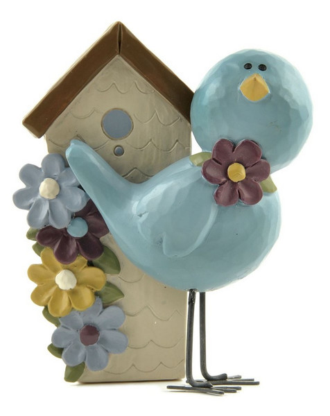 143-88497 Standing Bluebird With Birdhouse - Pack of 6
