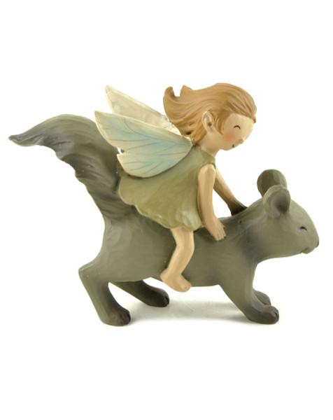 143-88672 Blossom Bucket Garden Fairy Riding Squirrel - Pack of 5