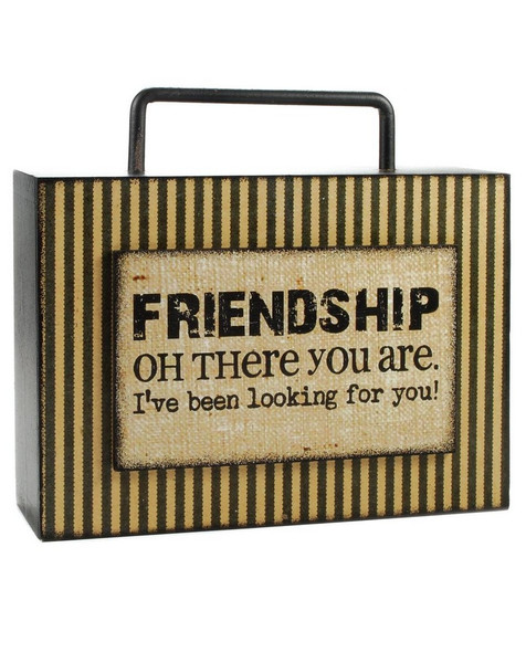 144-36829 Blossom Bucket Friendship Box Sign With Handle - Pack of 4