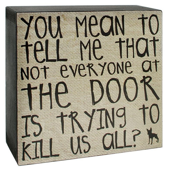 144-37155 Blossom Bucket Mean To Tell Me Wall Box Sign - Pack of 8