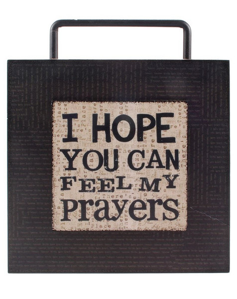 1466-36777 Hope You Can Feel Wood Box Sign - Pack of 5