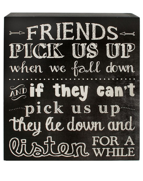 1466-38283 Friends Pick Us Up Black/White Wall Box Sign-Pack of 7