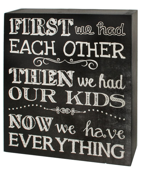 1466-38285 Have Everything Black / White Wall Box Sign - Pack of 7