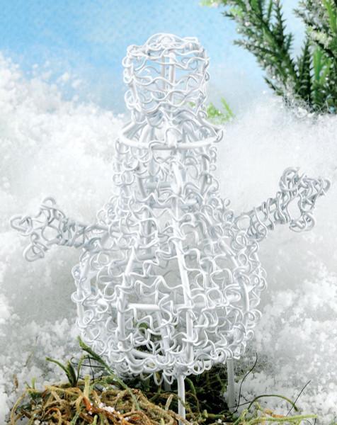 1466-71278 Blossom Bucket White Mini Snowman - Pack of 13
