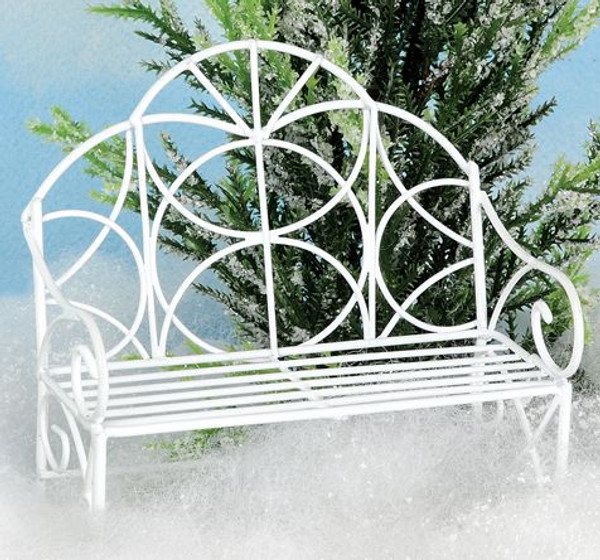 1466-71284 Blossom Bucket White Mini Garden Bench - Pack of 13