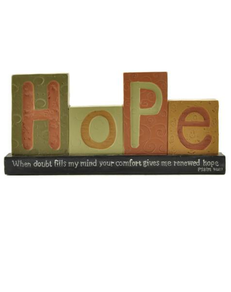 1466-88659 Blossom Bucket Hope Blocks On Scripture Base - Pack of 6