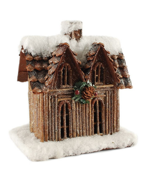 148-71174 Blossom Bucket Snow Covered House - Pack of 2