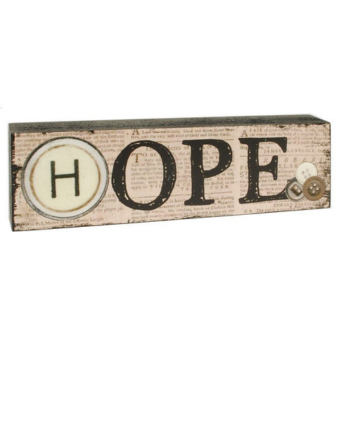 1488-39132 Blossom Bucket Hope Wood Sign - Pack of 13