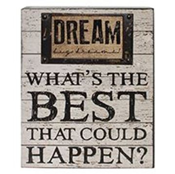1511-37381 Dream / Best Wall Box Sign (8X10) - Pack of 4