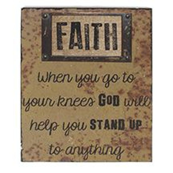 1511-37382 Blossom Bucket Faith Wall Box Sign (8X10) - Pack of 4