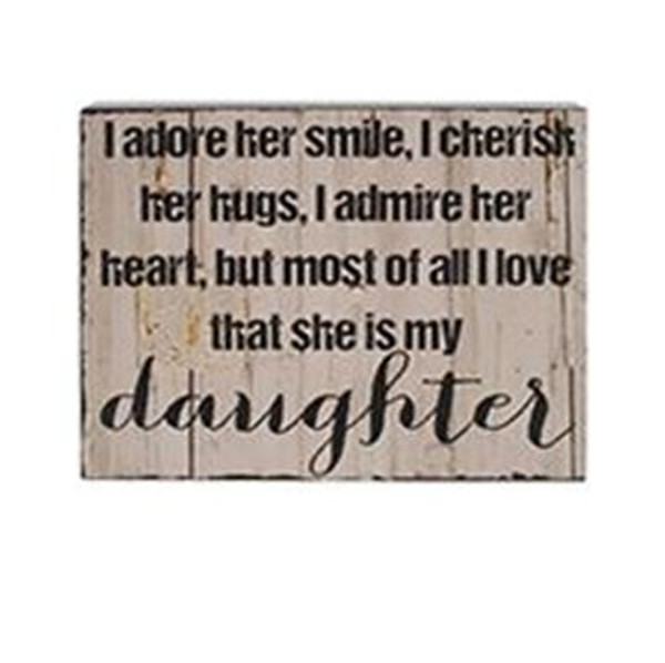1511-37383 Blossom Bucket Daughter Wall Box Sign (8X10) - Pack of 4