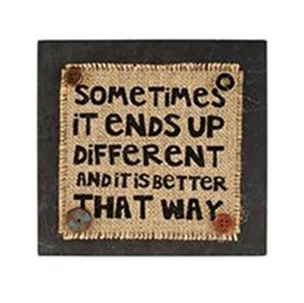 1511-37387 Ends Up Different Wall Box Sign (8X8) - Pack of 4