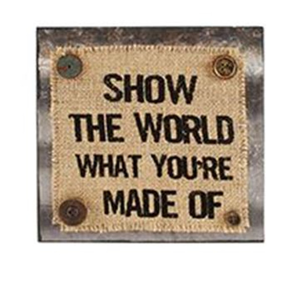 1511-37388 Show The World Wall Box Sign (8X8) - Pack of 4