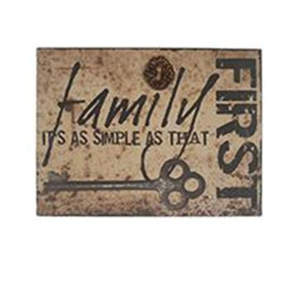 1511-37391 Family First Wall Box Sign (8X10) - Pack of 4