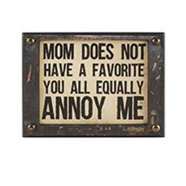 1511-37404 Mom's Favorite Wall Box Sign (8X6) - Pack of 5