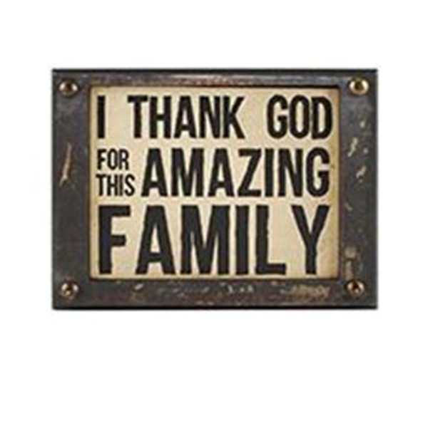 1511-37405 Amazing Family Wall Box Sign (8X6) - Pack of 5
