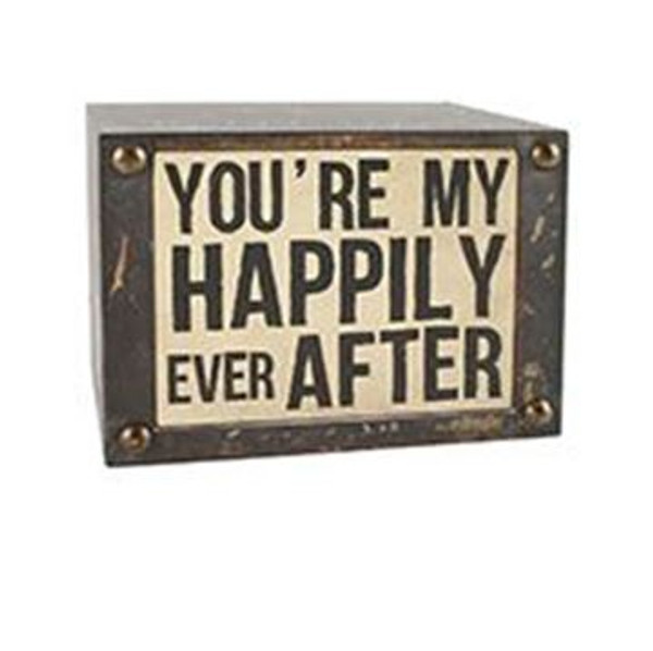 1511-37406 Happily Ever After Wall Box Sign (8X6) - Pack of 5
