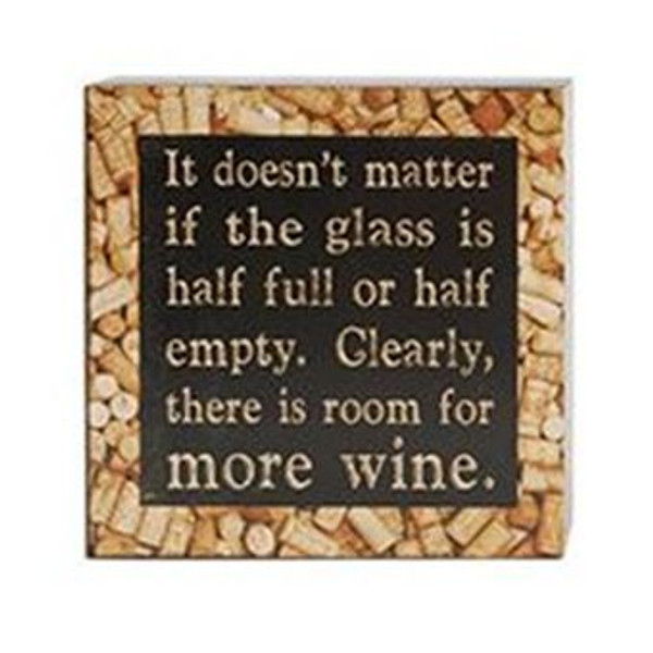 1511-37544 Room For More Wine Wall Box Sign - Pack of 6